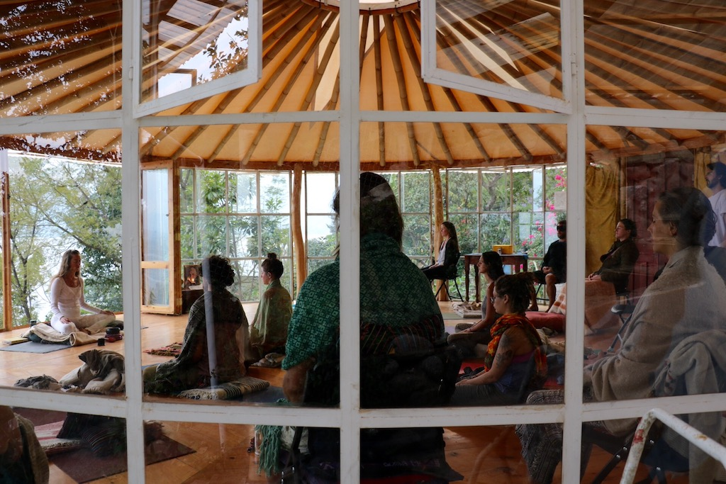 A blissful group meditation during a 10-day silent retreat at the Hermitage © Courtesy of the Hermitage