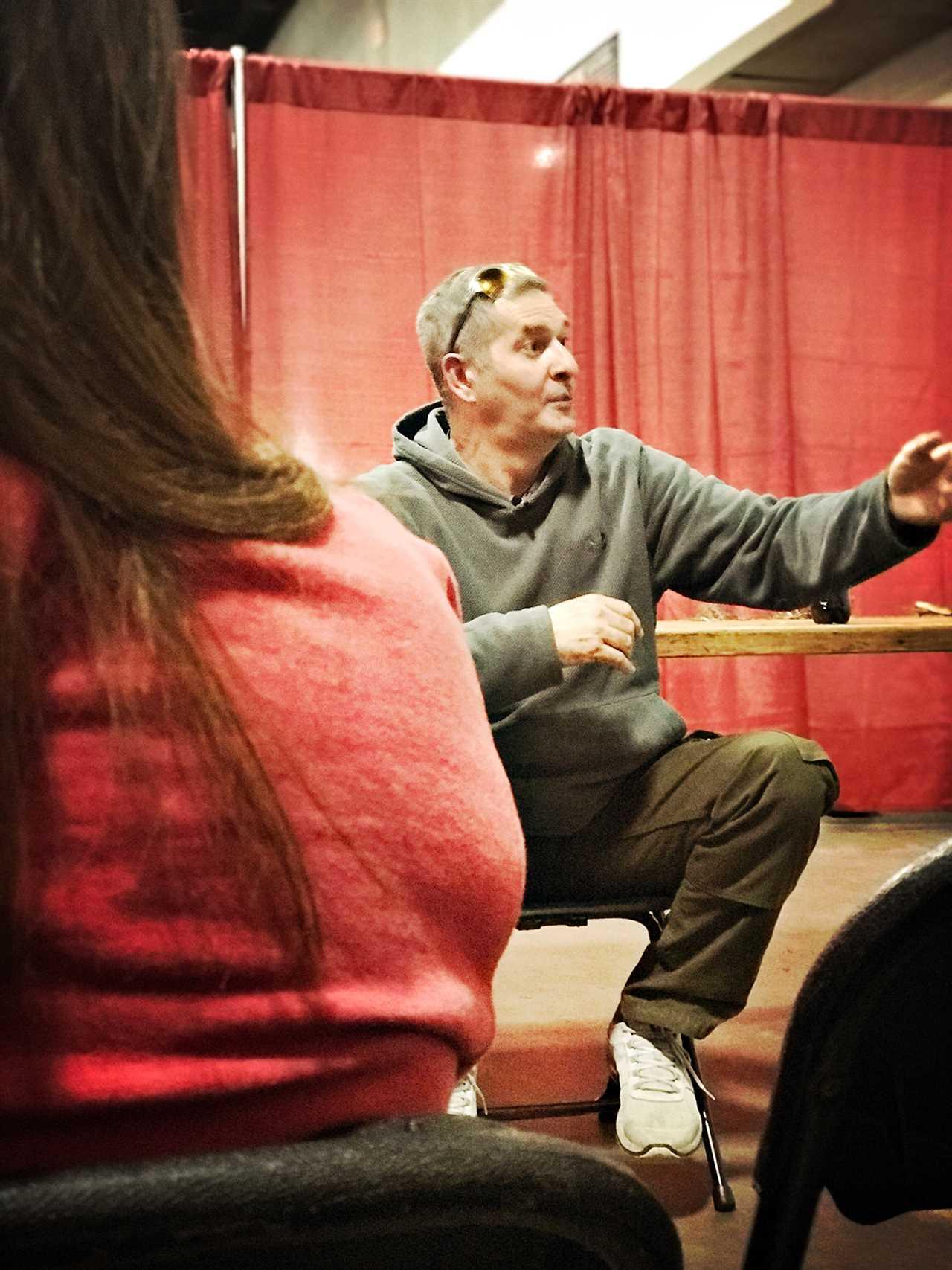 Bob Gaskin speaks to an audience in Louisville.