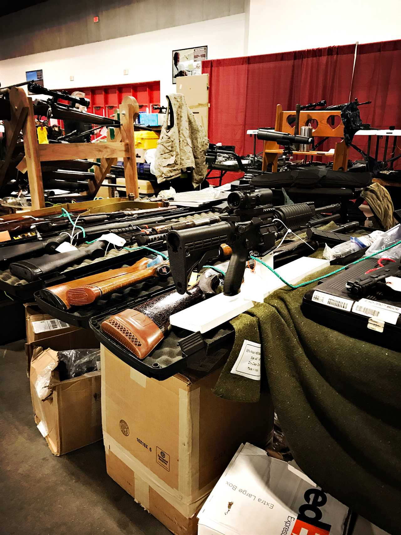 prepper Guns on display in Louisville.