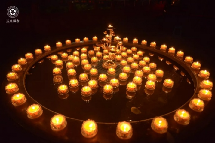 Lamp transfer ceremony at the end of the retreat.  Images courtesy of Yuquan Monastery