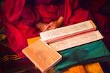 a photo of a meditating Buddhist