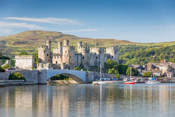 Conwy Castle as seen from across the river