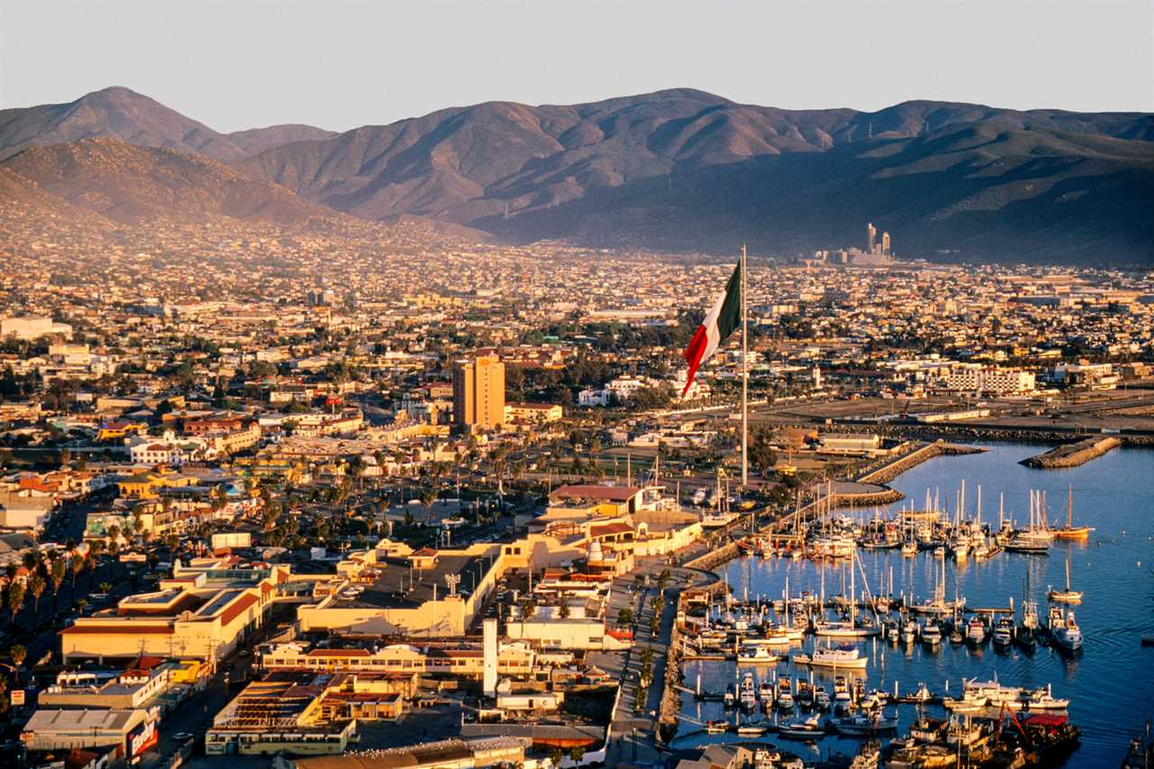 View over the town of Ensenada in Baja