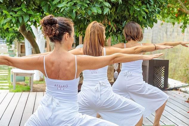Daily yoga at Atzaró will help you to rebalance
